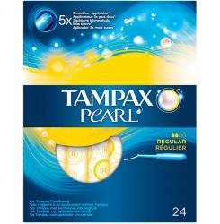 TAMPAX PEARL tampón regular 24 uds