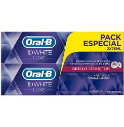 3D WHITE LUXE BRILLO SEDUCTOR DENTIFRICO LOTE 2 x 75 ml