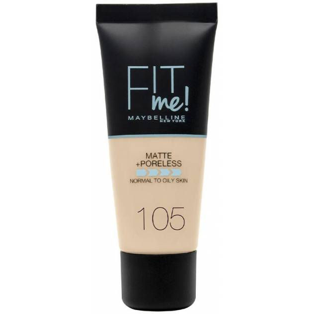 FIT ME! Foundation matte+poreless #105-natural ivory 30 ml