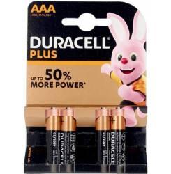 DURACELL PLUS POWER LR03 pilas pack x 4 uds