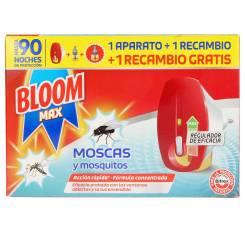 BLOOM MAX MOSCAS & MOSQUITOS apto.eléctrico + 2 recs.
