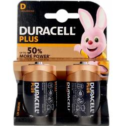 DURACELL PLUS POWER LR20/MN1300 pilas pack x 2 uds