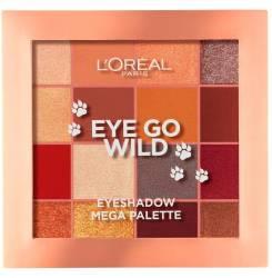 EYE GO WILD eyeshadow mega palette 17 gr