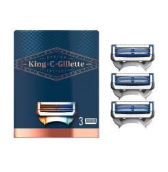 GILLETTE KING neck razor blades x 3 cartridges