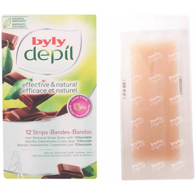 DEPIL bandas corporales chocolate 12 uds
