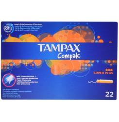 TAMPAX COMPAK tampón super plus 22 uds