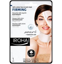 100% COTTON FACE & NECK MASK pearl-firming 1 utilizare