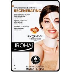 100% COTTON FACE & NECK MASK argan-regeneration 1 utilizare