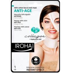 100% COTTON FACE & NECK MASK collagen-antiage 1 utilizare